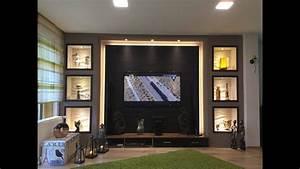 Tv Wand Selber Bauen Rigips : tv wand selber bauen wohnzimmer living room tv wall youtube ~ One.caynefoto.club Haus und Dekorationen