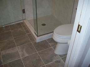 bathroom floors ideas brown tiles flooring of bathroom design idea completed