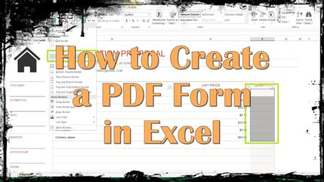 create   form  excel youtube