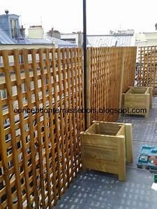 Brise Vue Plexiglass : conception d 39 une terrasse en bois brise vue en bois pour ~ Premium-room.com Idées de Décoration