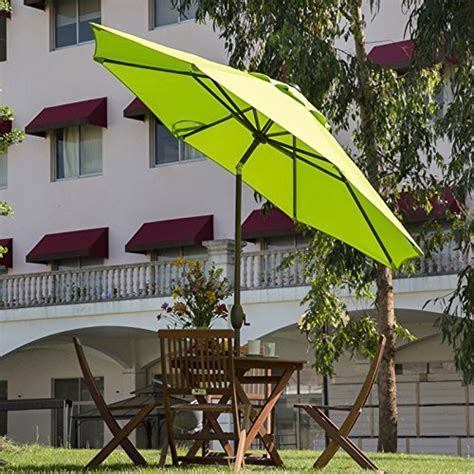 abba patio 9 ft outdoor market aluminum umbrella with auto