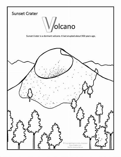 Sunset Coloring Pages Crater Beach Arizona Adult