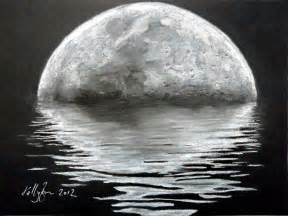 Charcoal Moon Drawing