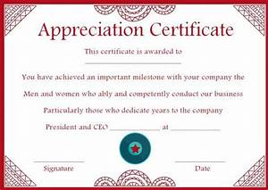 certificates of appreciation templates for word 10 years service award certificate 10 templates to honor