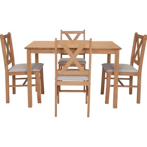 buy home dining table and 4 chairs solid oak