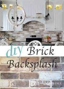Do It Yourself Kitchen Backsplash Do It Yourself Brick Veneer Backsplash Bricks Kitchens And House