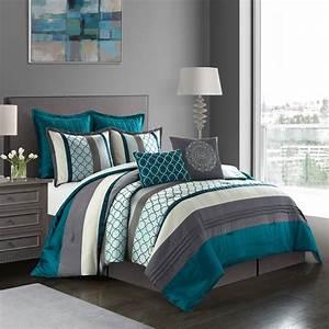 Nanshing, Avalon, 8, Piece, Bedding, Microfiber, Comforter, Set