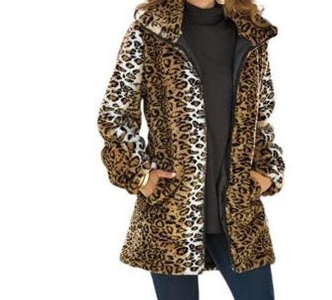 womens outwear winter washable faux fur coat jacket