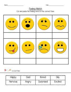 feeling match social skills activity feelings words