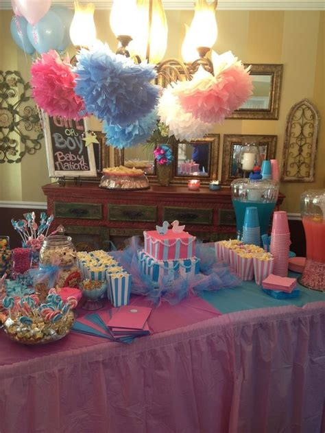 gender reveal table ideas gender reveal party food ideaswritings and papers