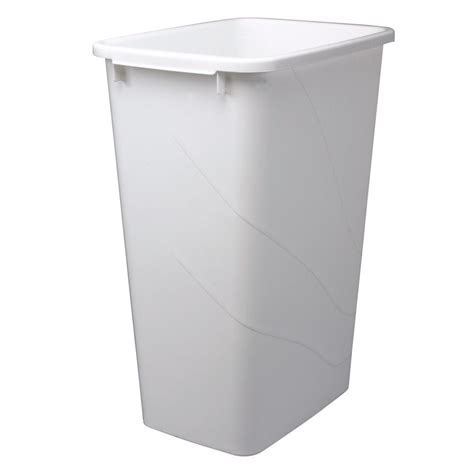 Knape & Vogt 50 Quart White Waste and Recycle Bin   The