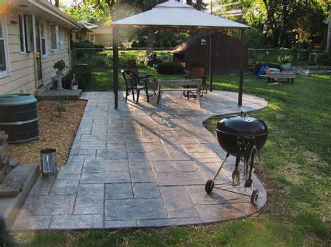 sted concrete patio add pergola patio ideas