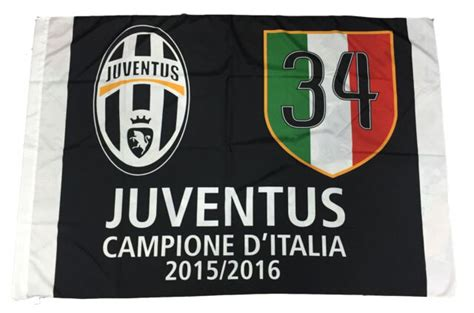 Juventus Flag Official Champion D' Italy Juve 100X140 34 ...
