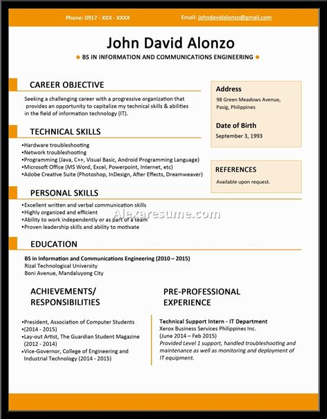 Can You Get A With No Resume by Exles Of Resumes Sle Resume Basic College Students