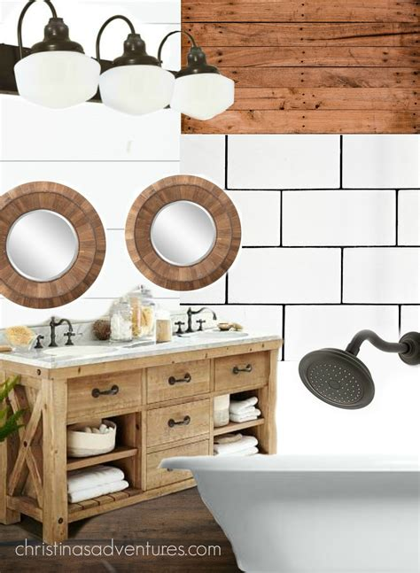 farmhouse bathroom design christinas adventures