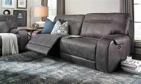 pasadena power reclining top grain leather sofa the dump