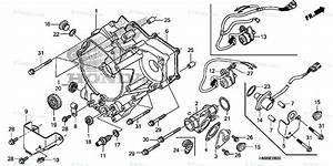 Honda Atv 2013 Oem Parts Diagram For Rear Crankcase Cover