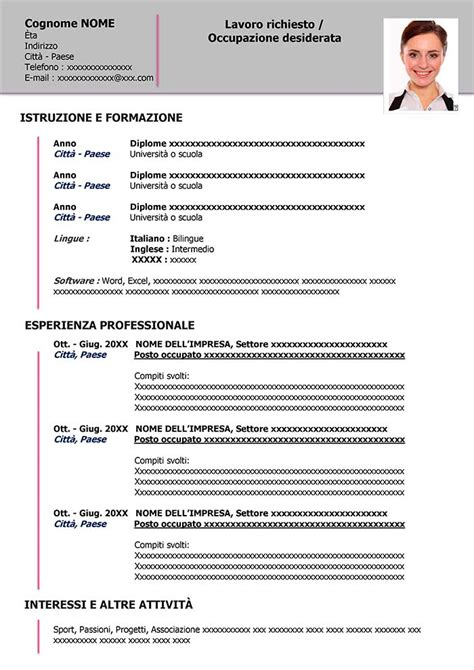 Esempio Di Curriculum Vitae Da Scaricare  Esempi Di Cv. Lebenslauf Vorlage Pages. Lebenslauf Englisch Wehrdienst. Curriculum Vitae Formato Europeo Template. Letterhead Design Vector. Resume Free Sample Format. Mon Curriculum Vitae En Francais. Applying For A Job Via Email What To Say. Cover Letter Customer Representative