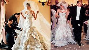 melania trump wedding was extravagant a gown made by With donald trump wife wedding dress