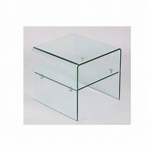 Meuble Bout De Canapé : bouts de canapes meubles et rangements bout de canap hestia en verre inside75 ~ Preciouscoupons.com Idées de Décoration