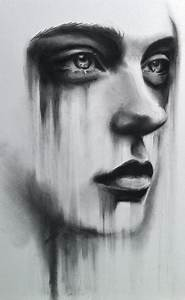 Woman Portrait Charcoal Drawing Image 2204947 By KSENIA