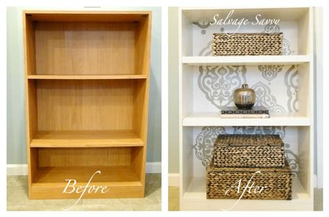 Salvage Savvy How To Give A Laminate Bookcase A [fabulous