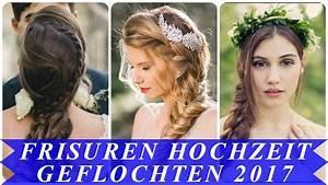 Frisuren Hochzeit Geflochten : coole frisuren hochzeit geflochten 2017 youtube ~ Frokenaadalensverden.com Haus und Dekorationen