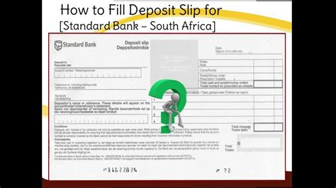 how to fill out a deposit ticket sa how to fill standard bank deposit slip