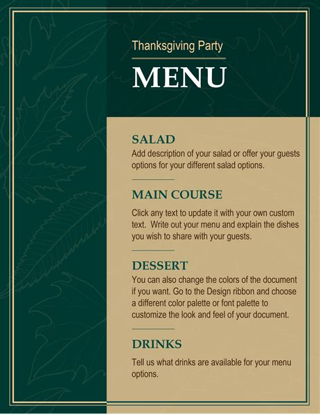 menus officecom