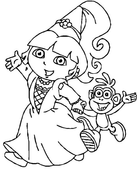 print  dora coloring pages  learn