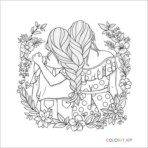 pin  angelina marie  coloring pages cute coloring bff drawings cute coloring pages
