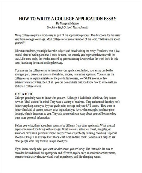 writing a good college application essay writing effective college application essay