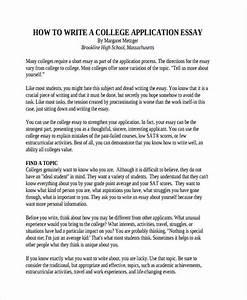 example college admission essays