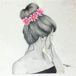 Flower Crown Tumblr Girl Drawing Easy
