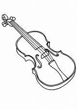 Violine Coloring Geige Violin Colouring Fiddle Ausmalbilder Ausmalbild Template sketch template