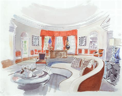 5 designers 39 white house interiors for clinton and 1stdibs