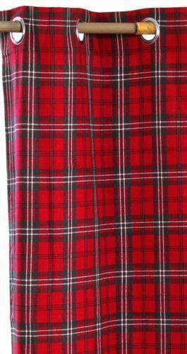 Tartan Plaid Drapes - tartan ready made curtains ebay