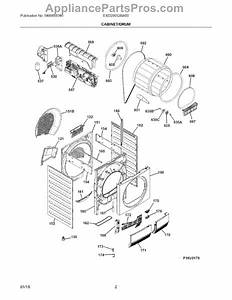 Parts For Electrolux Eied200qsw00  Cabinet    Drum Parts