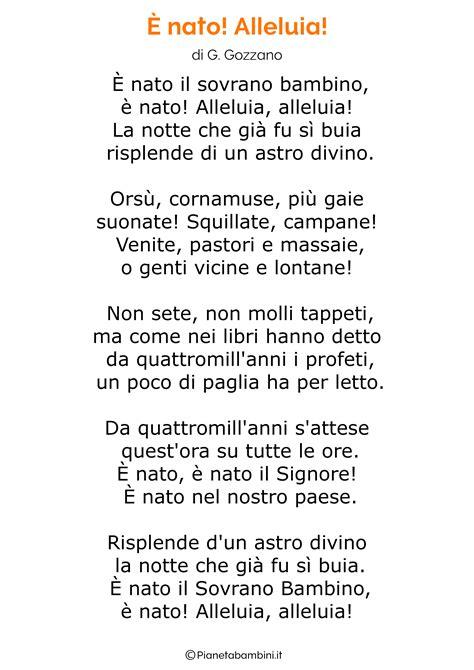 Testo E La Notte Di Natale - 45 poesie di natale per bambini pianetabambini it