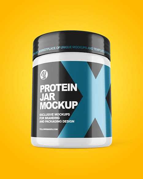 Includes special layers and smart objects for your amazing artwork. دانلود موکاپ قوطی پروتئین Glossy Protein Jar Mockup 52097 ...