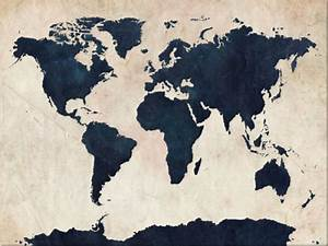 artPause.com » Distressed World Map Canvas Art Print at...