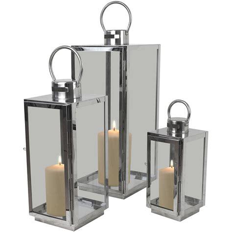 3tlg Laternenset Windlicht Laterne Kerzenhalter H5642