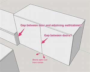 cabinetry - Gap for frameless full overlay hinged doors