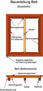 Bettkasten Selber Bauen : bauanleitung bett bauplan bettgestell aus holz ~ Frokenaadalensverden.com Haus und Dekorationen
