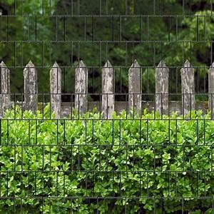 Sichtschutzmatten Für Zäune : sichtschutzstreifen bedruckt motiv holzzaun und buxus ~ Articles-book.com Haus und Dekorationen