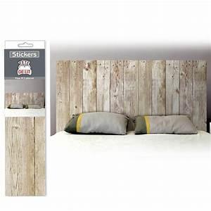 Photo Tete De Lit : d co facile stickers t te de lit effet planches de bois 15 90 ~ Dallasstarsshop.com Idées de Décoration