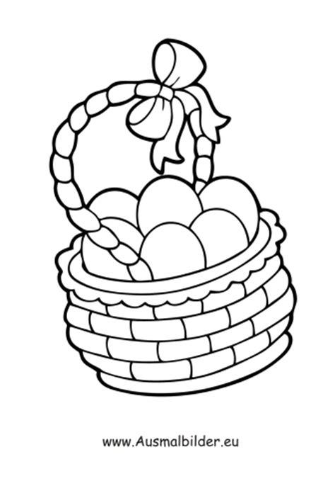 ausmalbilder ostereier im korb ostern malvorlagen