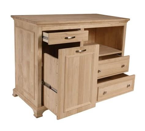 """bristol"" Unfinished Solid Hardwood Kitchen Island  Free"