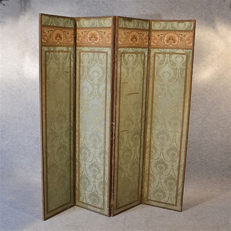 vintage screens room dividers antique screen quality silk panel victorian room divider folding partition c1870 275646