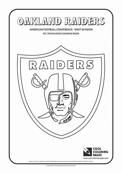 Coloring Nfl Football Pages Raiders Logos Team